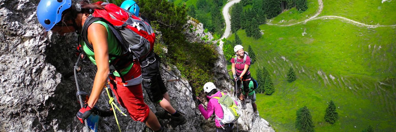 Schnuppertag, Alpinschule, Bergführer, Klettersteig