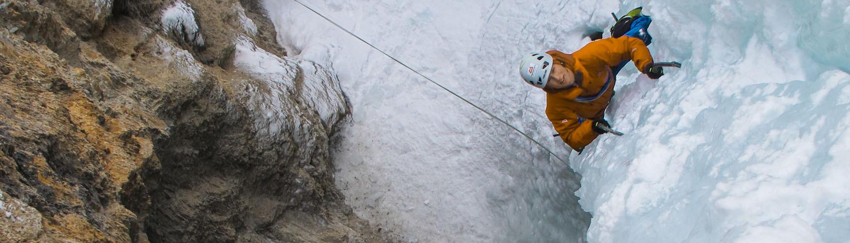 Dolomiten Eisklettern, Eisklettern mit Bergführer Dolomiten