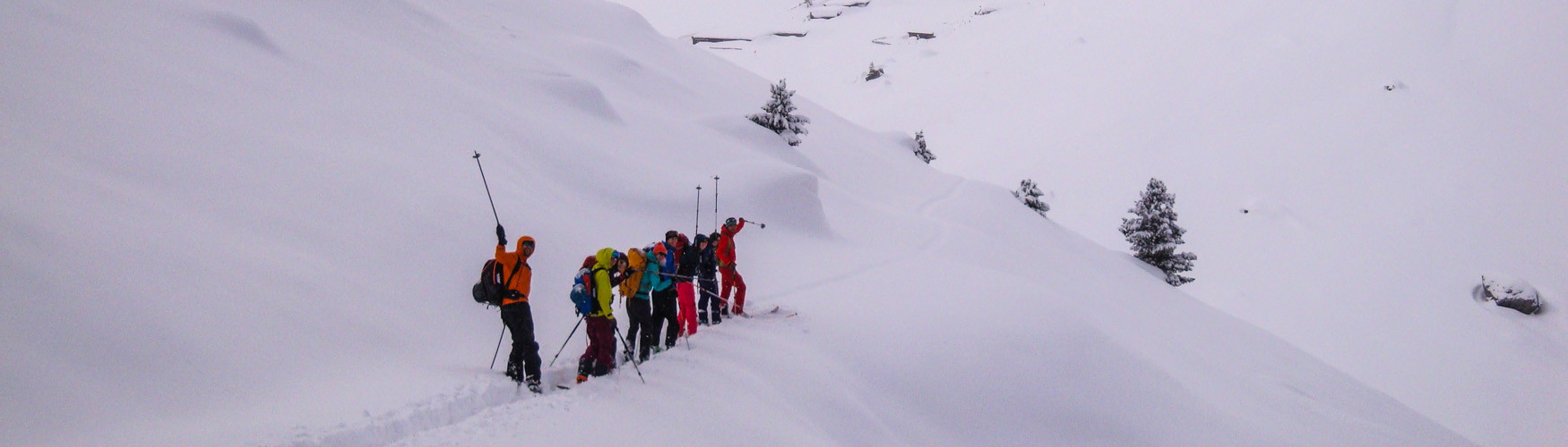 Tiefschnee und Skitouren Training