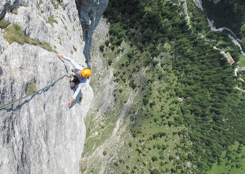 Alpinklettern, Dolomiten, Italien, Klettern