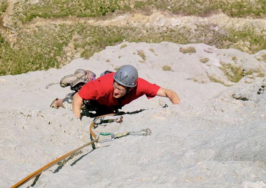 Klettern Dolomiten mit Bergführer