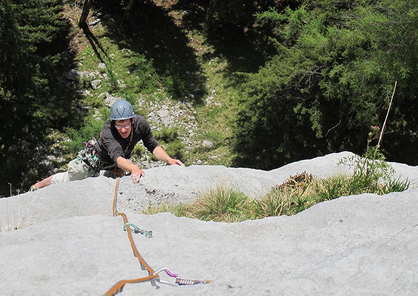 Steinplatte klettern