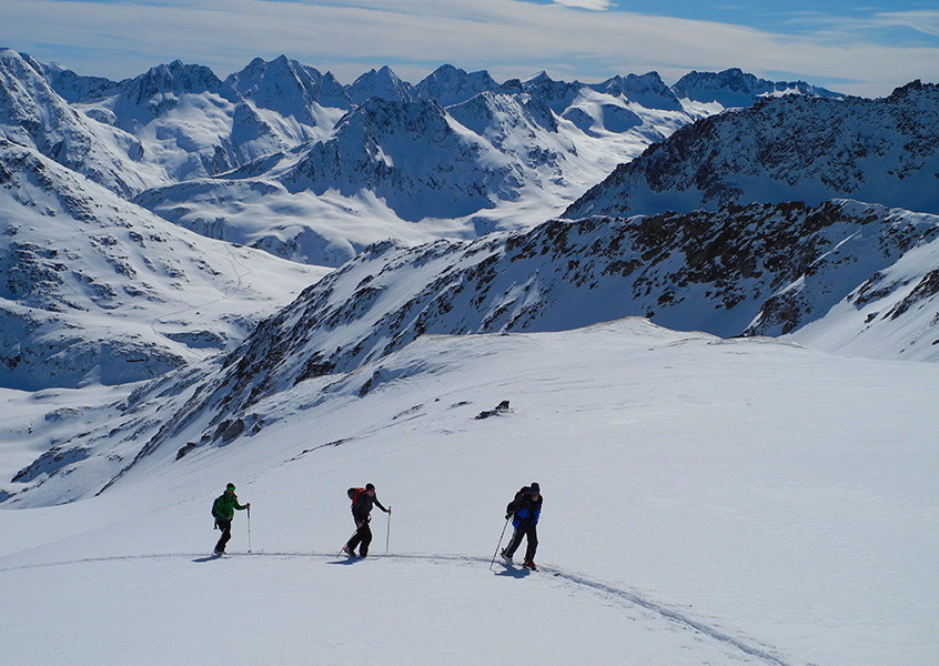 Freeride, Andermatt, Schweiz, Skitour, Bergführer