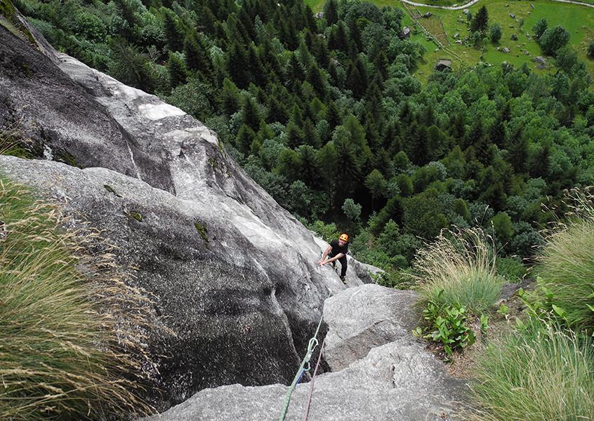 Klettern Bergell