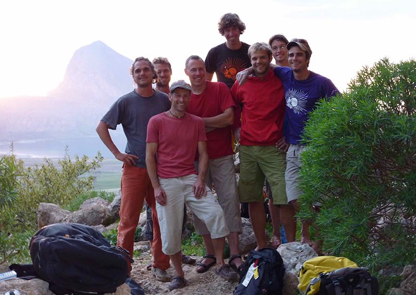 Klettern Sizilien Gruppe