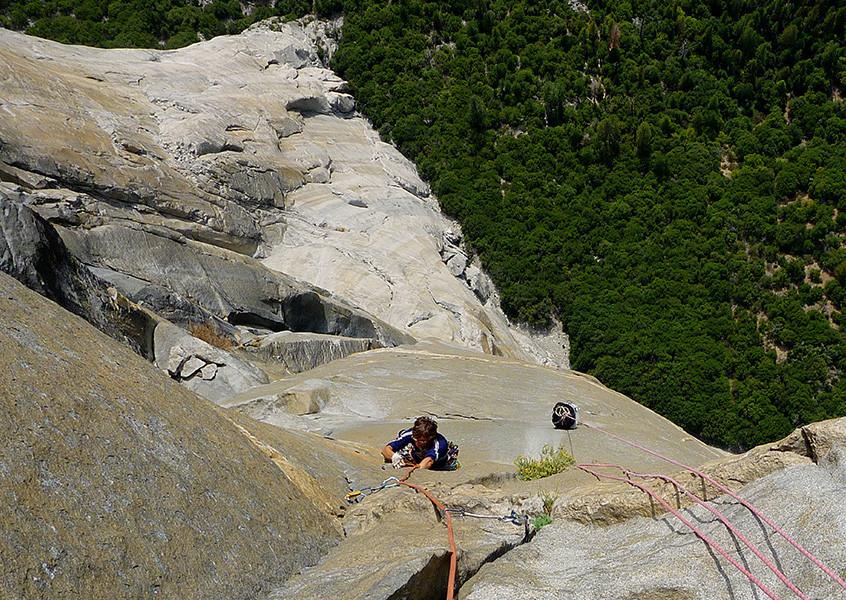 Climbing Salathe
