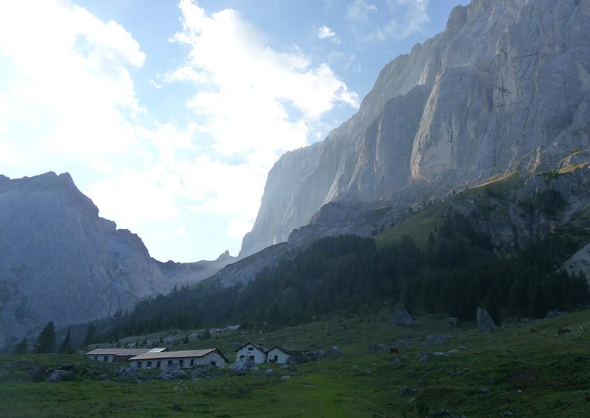 Klettern Marmolada Südwand