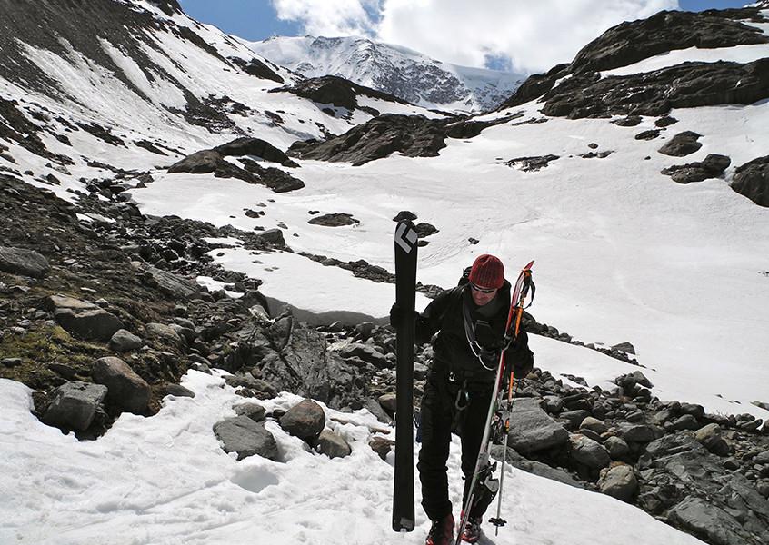 Taschachwand mit Ski