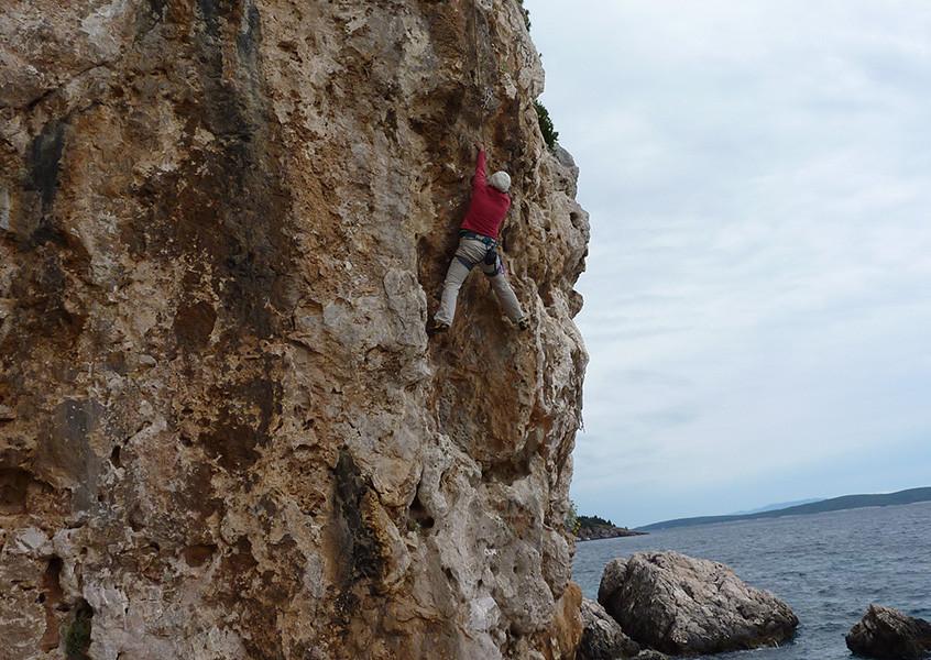 Klettern und Meer