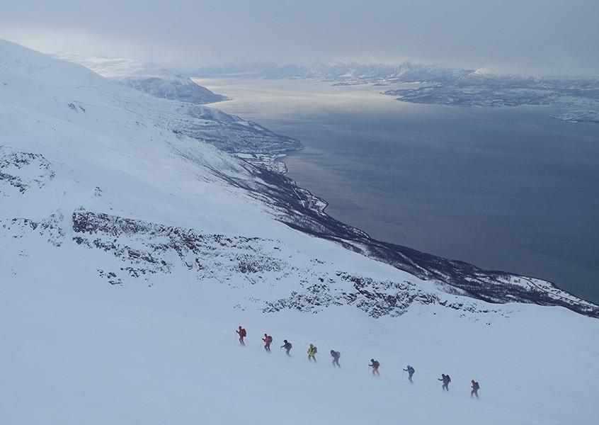 Skitour, Norwegen, Schiff, Tourenski