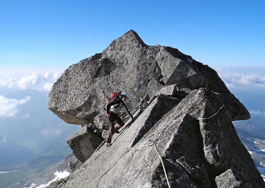 Thurnerkamp mit Bergführer