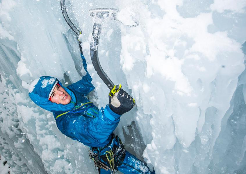 Berg, Eis, Wasserfall, Eisklettern, Sicherung, Führung, Schulung