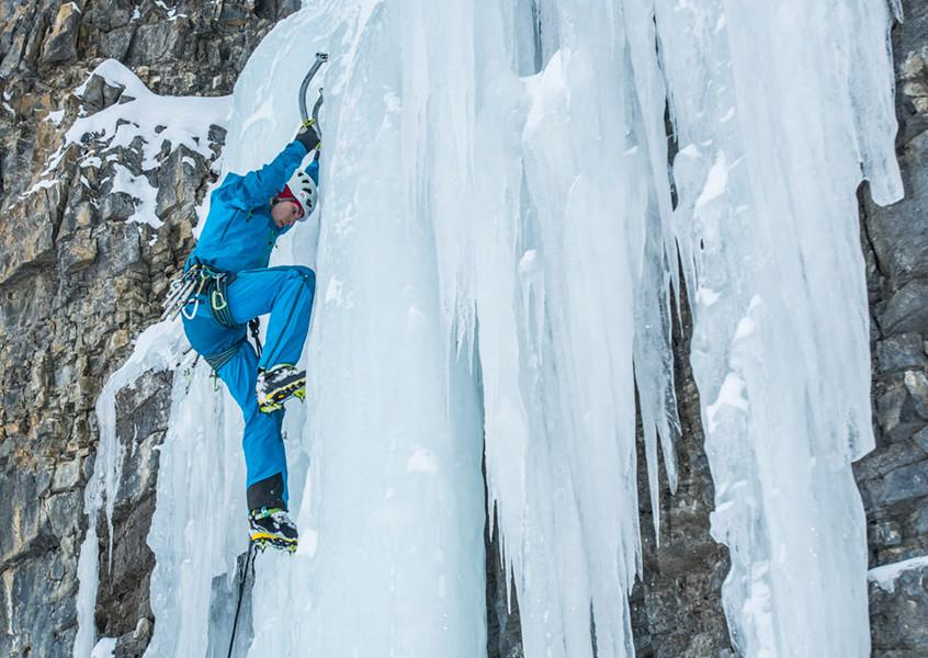 Eis, Eisklettern, Alpinschule, Steigeisen, Wasserfall, Mountain Elements
