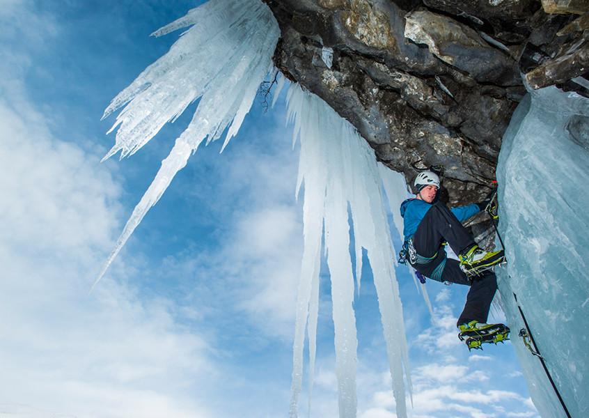 Eisklettern, Sicherung, Eis, Klettern, Österreich