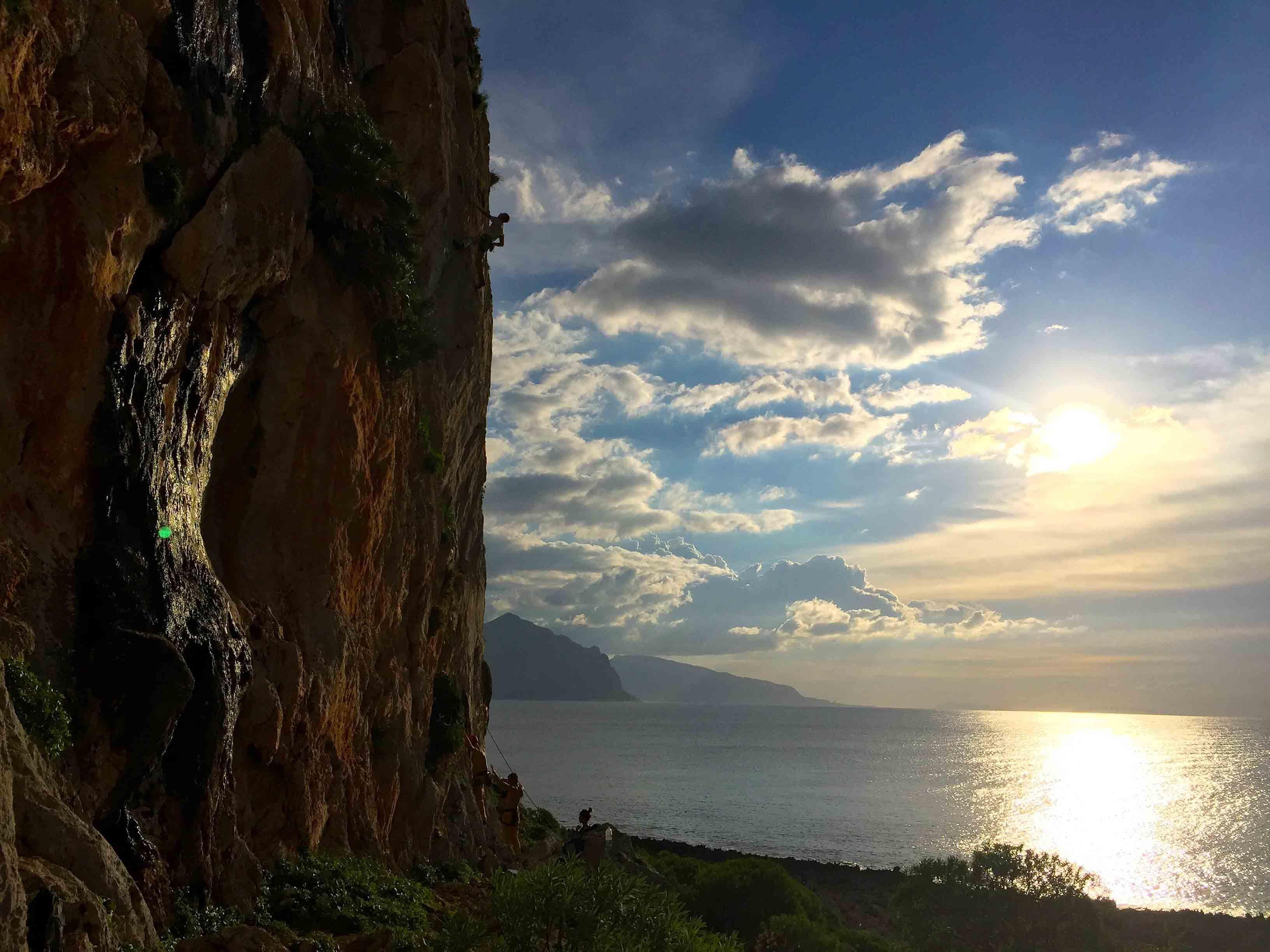 Klettern in Sizilien, klettern san vito
