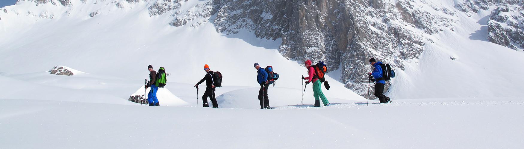 Skitour Stützpunkte, Freeride Schweiz Guide