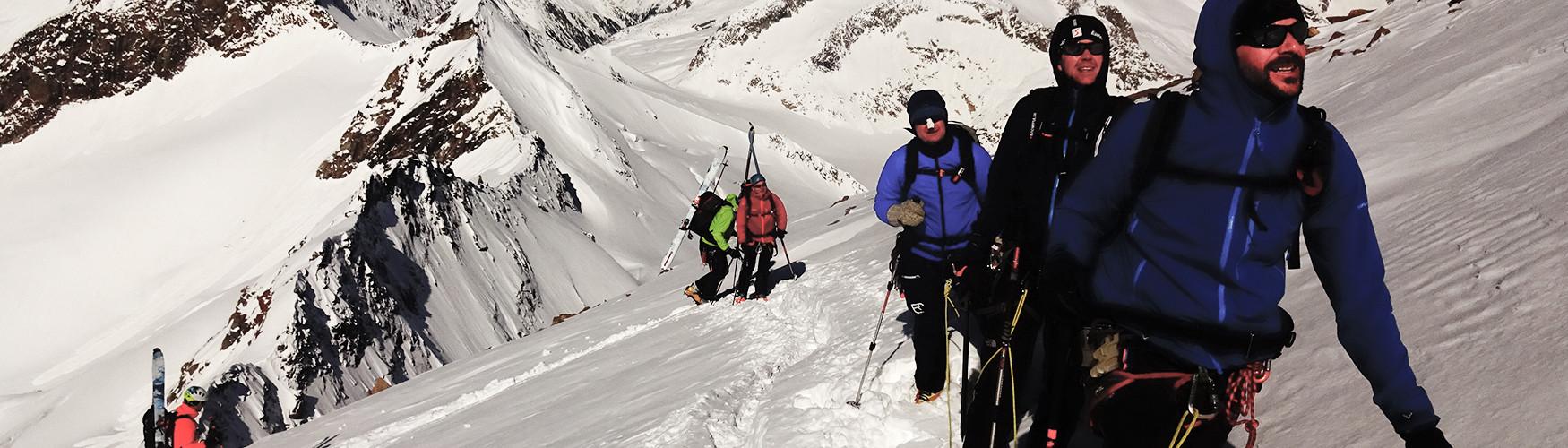Skidurchquerung Tirol Österreich Bergführer