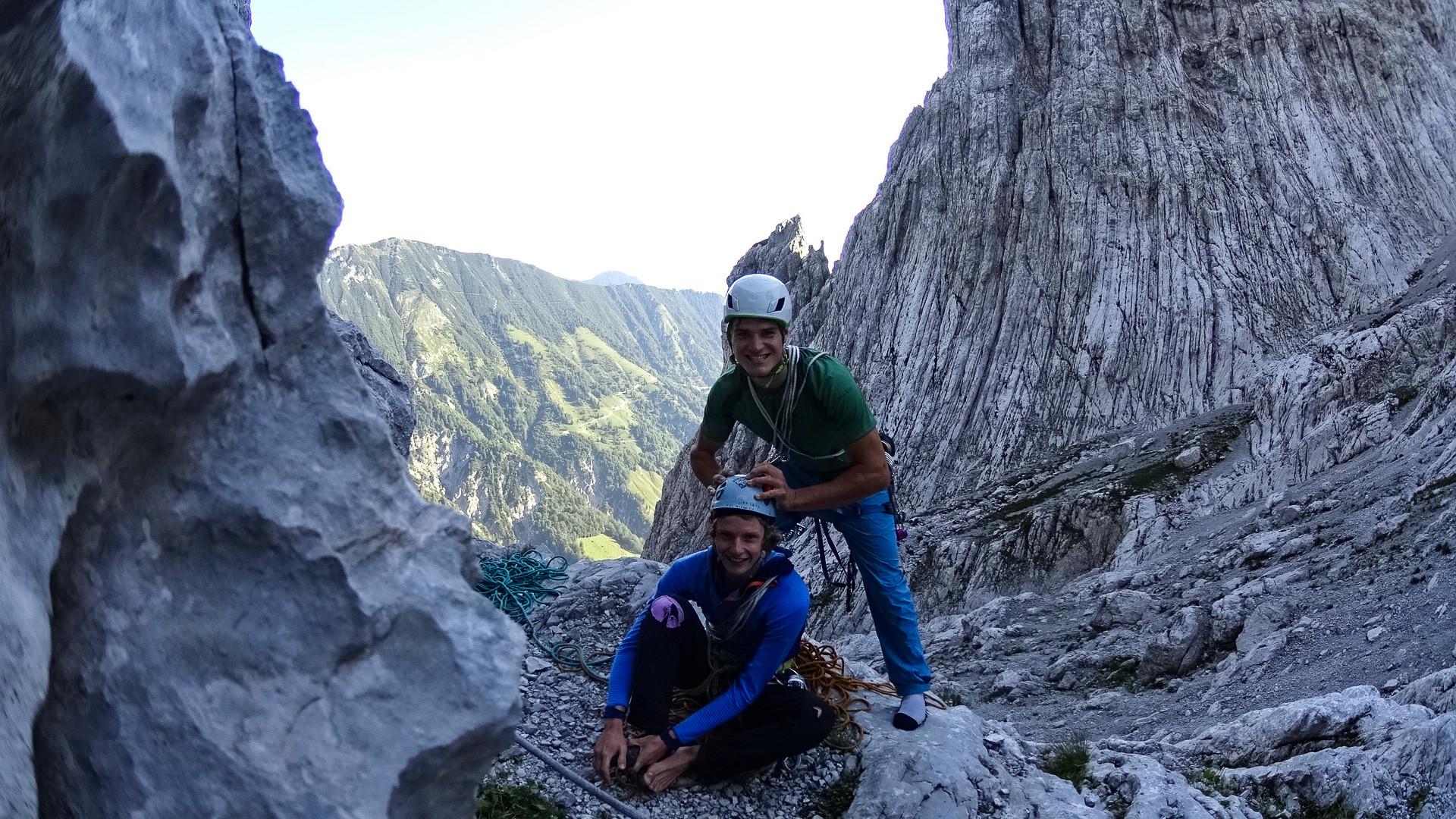 Wilder Kaiser Klettern alpin extrem