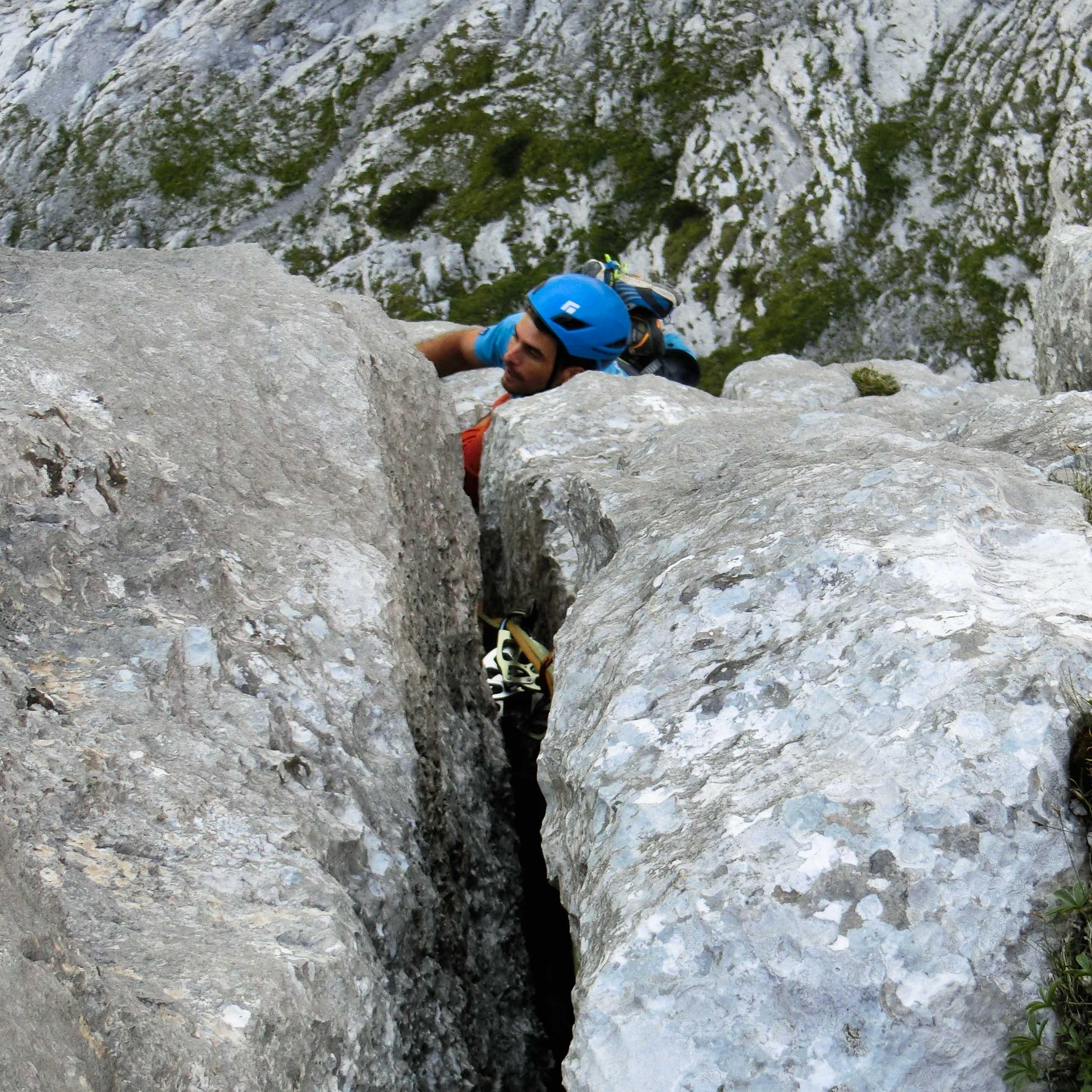 Klettern Bergführer Wilder Kaiser, Pumprisse