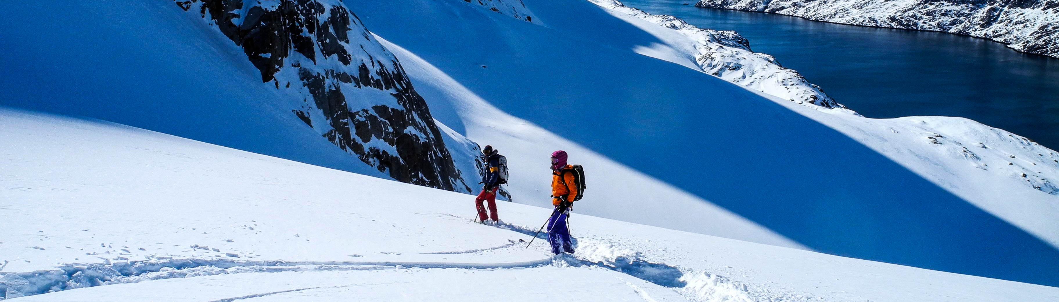 Grönland Skitouren vom Schiff