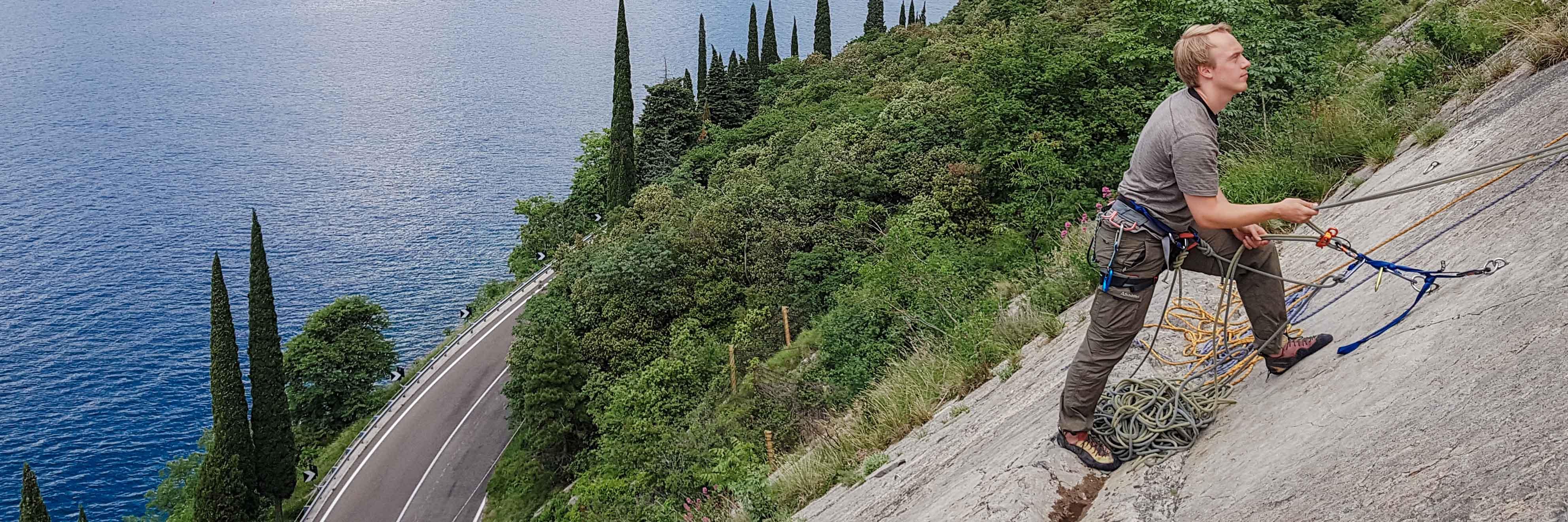 Grundkurs Klettern, Arco klettern, Mehrseillängen klettern Gardasee